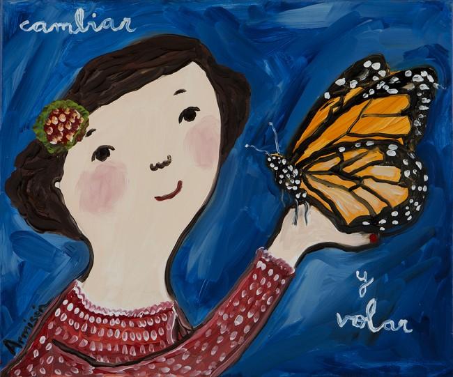 Mariposa monarca Eva Armisen