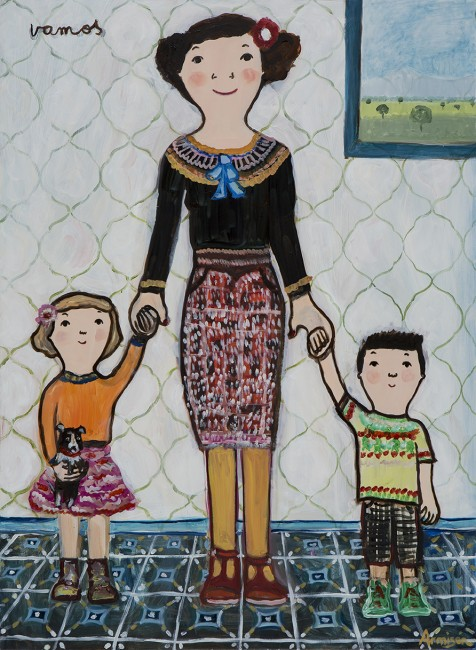 Eva Armisen mother and children