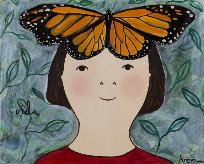 Eva Armisen mariposa