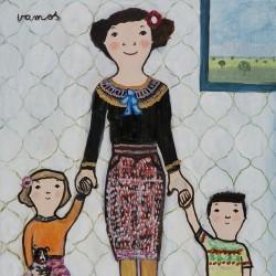 Eva Armisen mother and children